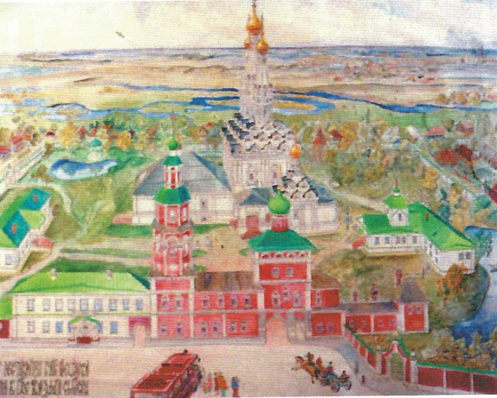 Иоанно-Предтечев монастырь. Рис. архитектора Соколова Д.С.