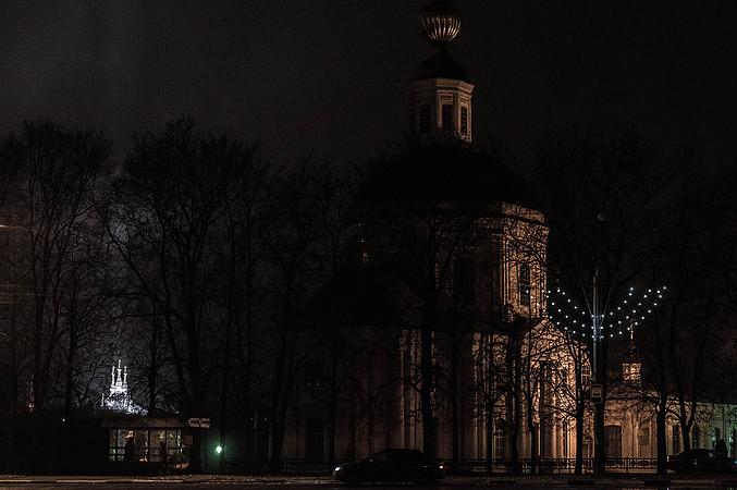 Вид на церковь Одигитрии с Советской площади